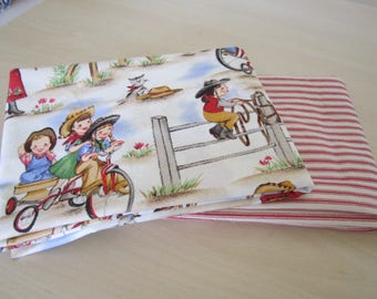 Michael Miller Lil Cowgirl 2 Yard Bundle Red Ticking Fabric 1 Yard each Fabric Great for your own little Cowgirl