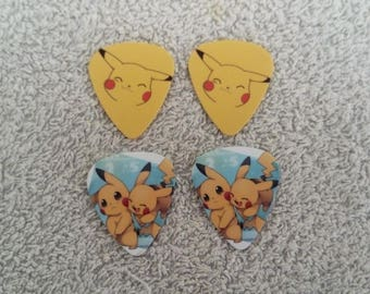 Pikachu guitar pick set