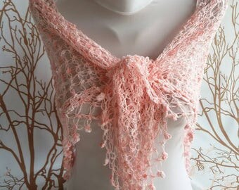 ON SALE Crochet lace shawl wrap neckwarmer scarf Women accessories Mother day gift evening lace shawl Autumn Spri