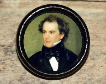 NATHANIEL HAWTHORNE Pendant or Brooch or Ring or Earrings or Tie Tack or Cuff Links