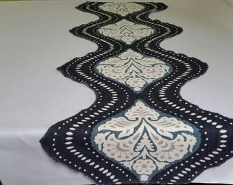 Table Runners,Designer table runners, Dining table runners, Blue Table runner.