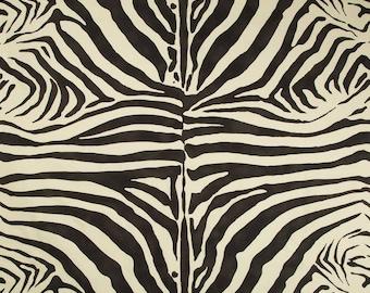 LEE JOFA KRAVET Zebra Cotton Linen Fabric 10 Yards Smoke Black