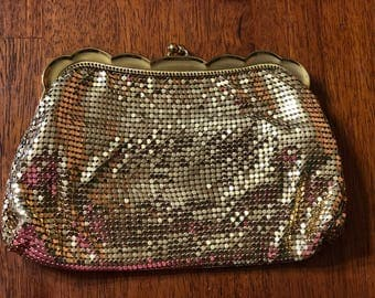 Vintage 1930's Whiting and Davis Gold Mesh Purse #2924