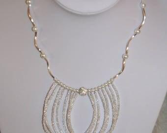 Shiny white necklace, Bridal, wedding, ceremony
