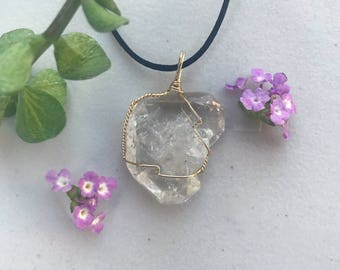 Desert Diamond Silver-Plated Wire Wrapped Necklace