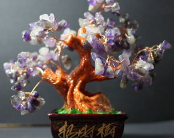 Money Tree | Feng Shui Tree | Lucky Tree | Fortune Tree | Crystal Tree | Bonsai Money Tree |  Amethyst Bonsai Tree