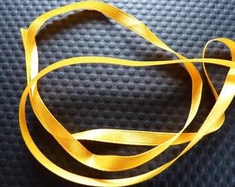 Orange Satin yellow ribbon