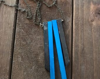 Blue Black Necklace #26