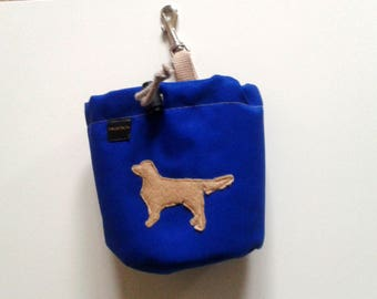 Royal blue dog treat pouch with your favourite breed