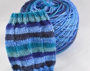 Hand Dyed Self Striping Yarn - Singin' the Blues