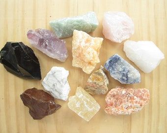 Assorted Rock Mix-Chakra Healing Crystals-Healing Stones and Crystals-Healing Crystal Set-Raw Crystals-Spirituality and Religion-Crystals