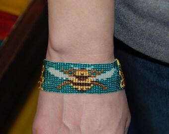 Handmade Honey Bee Beaded Bracelet