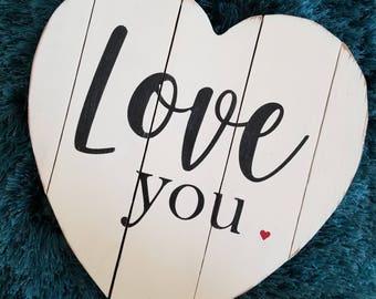 Love You Pallet Heart  Pallet Heart Rustic Pallet Heart