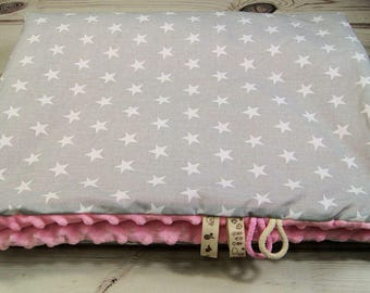 Baby blanket, baby blanket made from 100% cotton (80 x 100 cm), super soft and fluffy