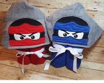 Ninja Lego Hooded Towel with FREE Embroidered Name