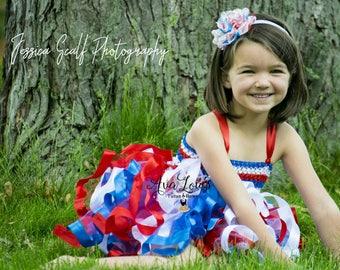 Fourth of July tutu dress, 4th of july tutu dress, america tutu dress, red white and blue tutu dress, cupcake 4th of july tutu dress