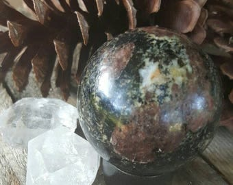 Garnet and Tourmaline Sphere