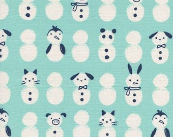 Noel by Cotton + Steel - Snow Babies Mint - Cotton Woven Fabric