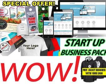 Start up Business Pack : Website Design + Logo Design + Flyers + Uniforms