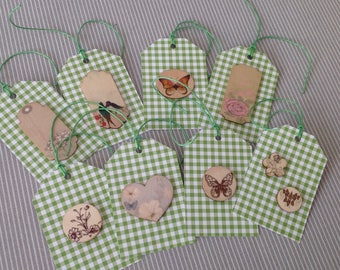 Set of 8 tags tags garden collection. Set of 48.