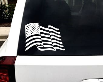 Yeti Decal - American Flag Decal - Wall Decor - Car Decal