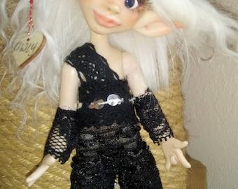 OOAK BJD Art Doll Fairy Elv Owly