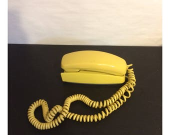 Vintage Harvest Gold Trimline Rotary Telephone
