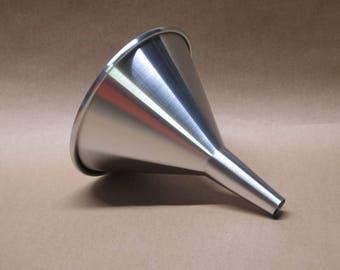 Aluminum Funnel Seamless Hand Spun, Tall Size, Handmade, New, Metal Spinning,