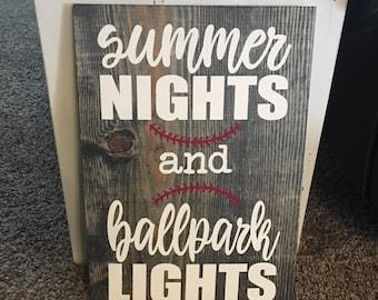 Baseball/Softball Ballpark sign