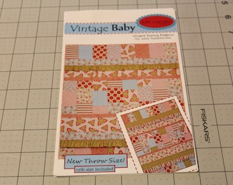 Vintage Baby Pattern by Amy Hamberlin of Kati Cupcake Pattern Co. Throw and Crib Size