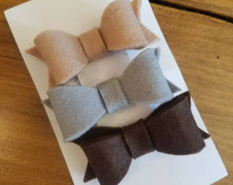 Fall felt bow bundle