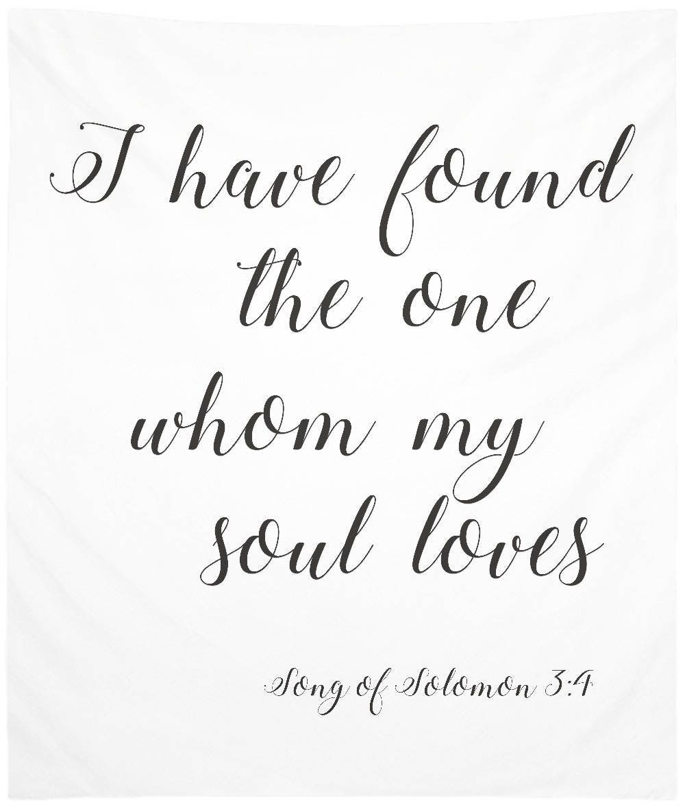 Luxury Quote I Have Found The One Whom My Soul Loves Love Quotes