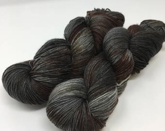 House blend Indie Dyed Yarn on Merino cashmere Nylon MCN gray silver brown