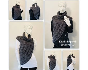 Katniss Inspired Cowl Wrap Top...