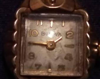 Vintage 1950s 10k gold plated Bulova Women's Watch Mechanical Movement #6B0