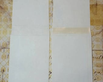 White Kraft Envelopes with Long Flap-