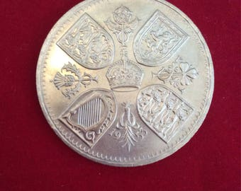 UK Five shilling Crown 1953