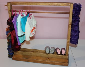 Doll Clothes Rack,Clothes Storage,Doll Furniture,18 Inch Doll Furniture