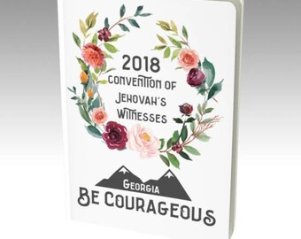 2018 Be Courageous Convention | Georgia | JW NOTEBOOK | Pioneer Gift | JW Gift | Meeting Notebook | Convention Notebook | Floral