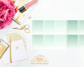 10 March Ombre Checklist Stickers   Planner Stickers designed for use with the Erin Condren Life Planner