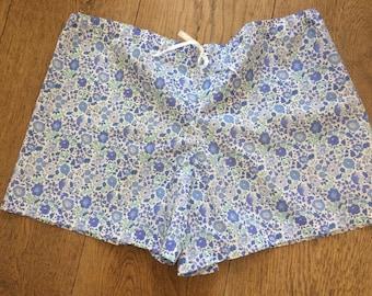 Ladies pyjama shorts Liberty Tana Lawn Medium