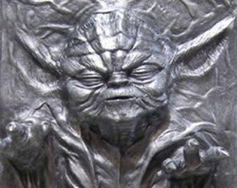 Star Wars Yoda Carbonite Painted Prop