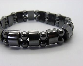 Black hematite bracelet for men or women