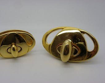 1 clasp for bags has handmade brass Italian 70 mm x 40 mm