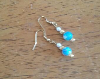 Pastel Glass Drop Earrings