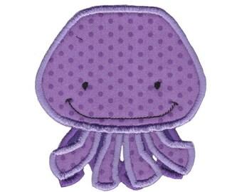 Ocean Creatures Applique Design 3 Machine Embroidery Design 4x4 5x7 6x10