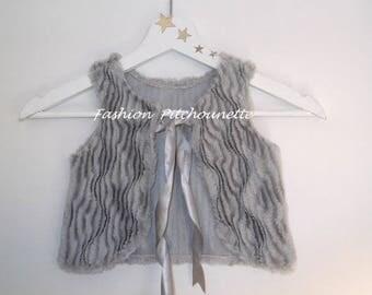 """Vest spring sleeveless """"ADELE"""" 6-36 months, evolutionary, gray"""