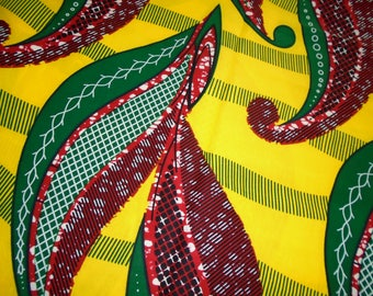 African Wax Print Fabric, by the Half Yard