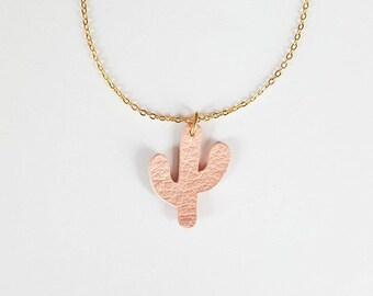 Cactus Chocker Rose Quartz Necklace Handmade Necklace Soft Pink Necklace