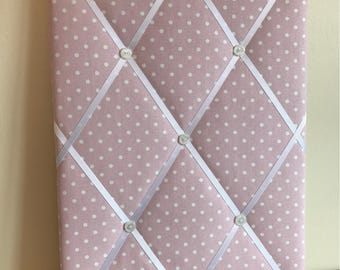 Handmade fabric memo board - Prestigious Nancy Rose Pin/Notice/Memo/Photo Board/Custom made, Choice of sizes, FREE UK postage